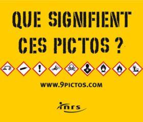 9 pictogrammes d'étiquetage de produits chimiques
