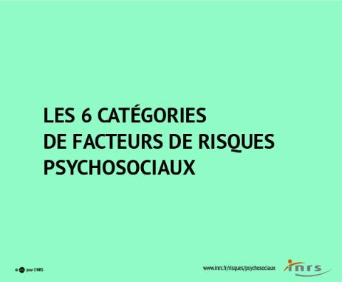 Risques Psychosociaux Rps Facteurs De Risque Risques Inrs