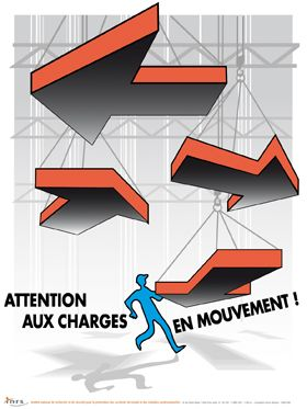 Attention aux charges en mouvement !