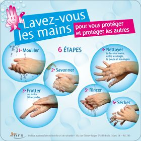 Berühmt Lavez-vous les mains pour vous protéger et protéger les autres  NE34