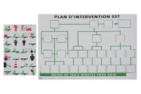 Plan d'intervention SST papier avec autocollants