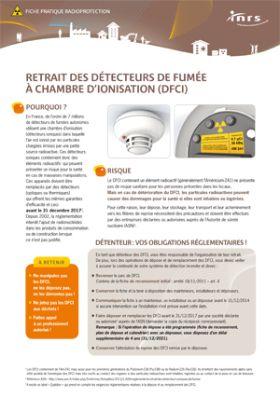 retrait des d tecteurs de fum e chambre d 39 ionisation dfci brochure inrs. Black Bedroom Furniture Sets. Home Design Ideas