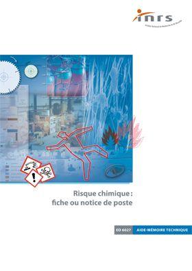 Risque Chimique Fiche Ou Notice De Poste Brochure Inrs