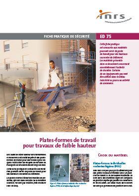 Plates Formes Pour Travaux De Faible Hauteur Brochure Inrs