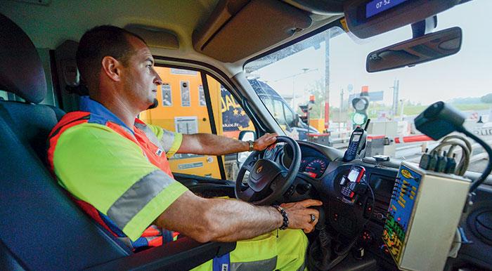 Salarié au volant d'un véhicule