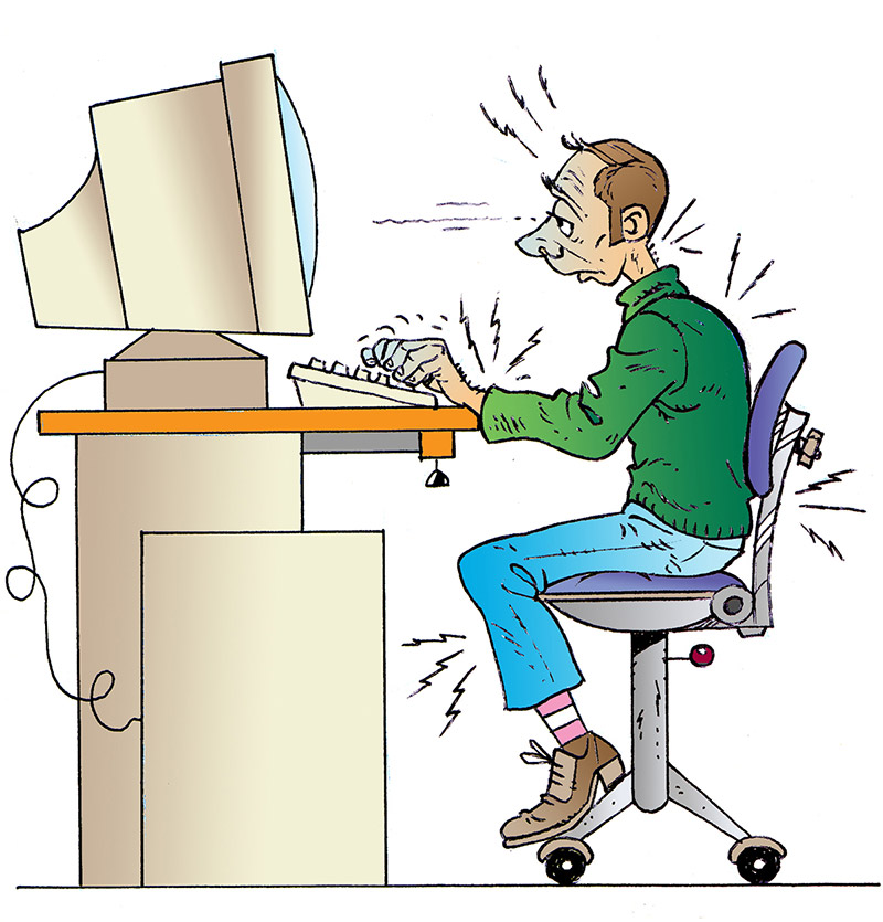 Travail sur cran risques pour la sant risques inrs - Jeu de travail au bureau ...