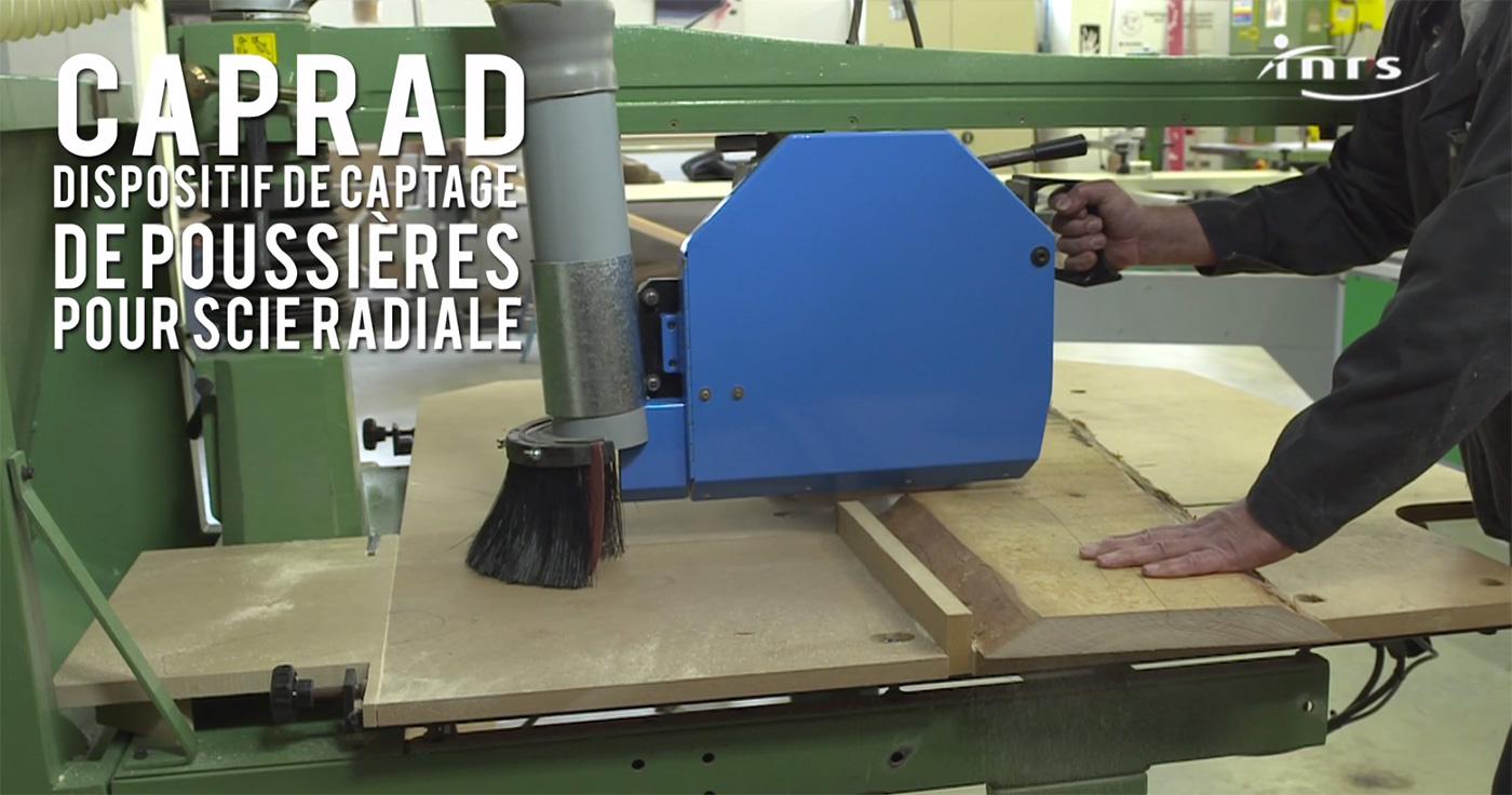Caprad dispositif de captage des poussi res de bois pour - Scie circulaire radiale ...